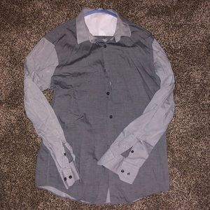 CALIBRATE MENS LARGE BUTTON UP